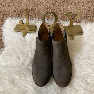 Splendid Paddy Suede Ankle Bootie in Dark Taupe